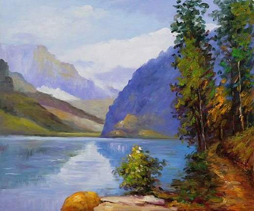 edward henry potthast lake louise british columbia paintings