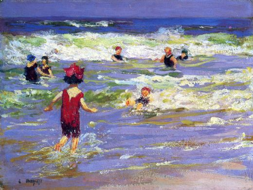 edward henry potthast little sea bather paintings