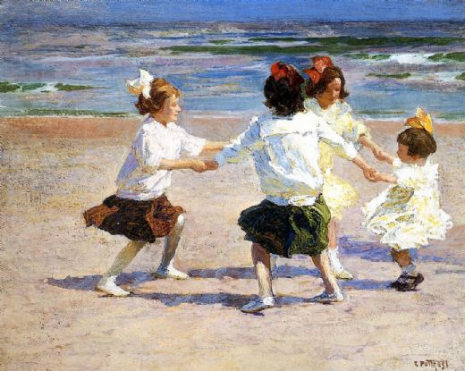 edward henry potthast ring around the rosy painting