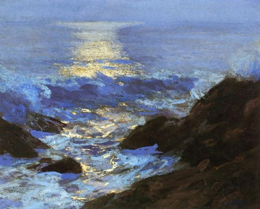 edward henry potthast seascape moonlight painting