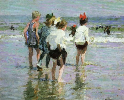 edward henry potthast summer day brighton beach paintings