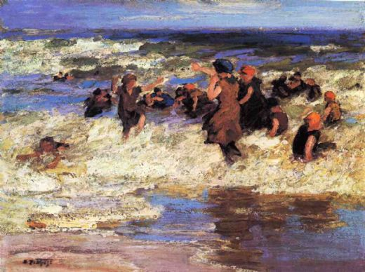 edward henry potthast surf bathing paintings
