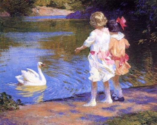 edward henry potthast the swan paintings