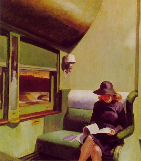 edward hopper compartment car painting
