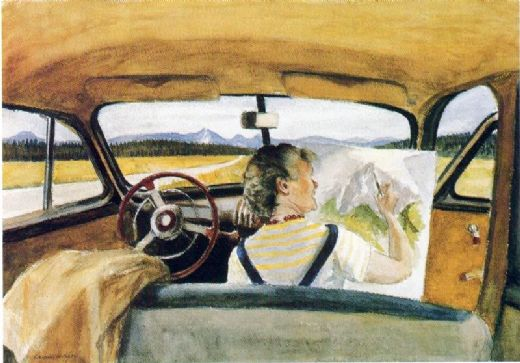 edward hopper jo in wyoming paintings