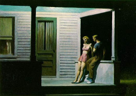 edward hopper summer evening paintings