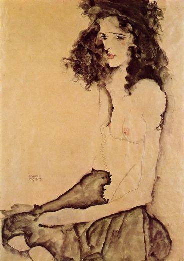 Girl In Black Painting Amp Egon Schiele Girl In Black
