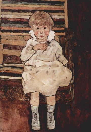 egon schiele sitting child paintings
