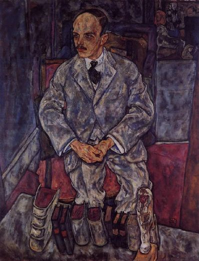 egon schiele the art dealer guido arnot paintings
