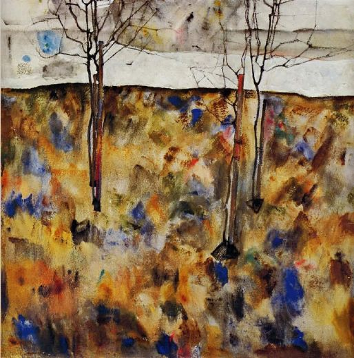 egon schiele winter trees posters
