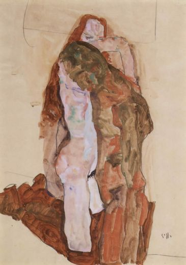 egon schiele woman and man alternately husband and wife paintings