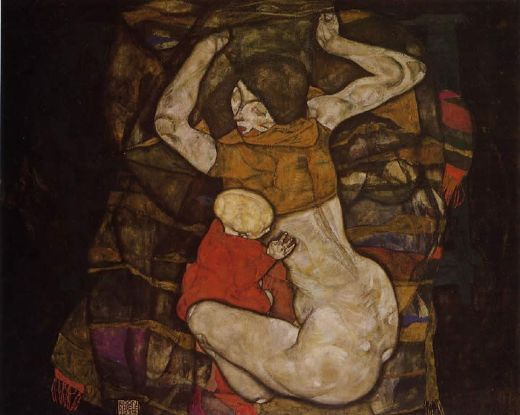 egon schiele young mother painting