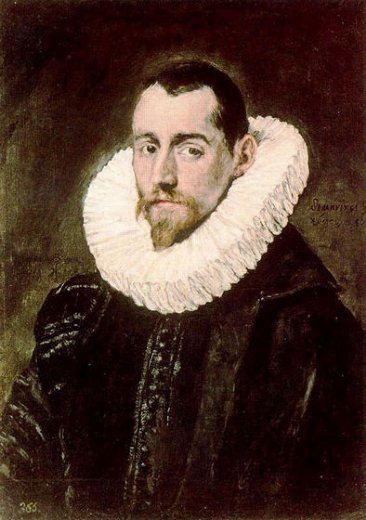 el greco portrait of a young gentleman painting