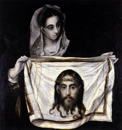 el greco st veronica holding the veil painting