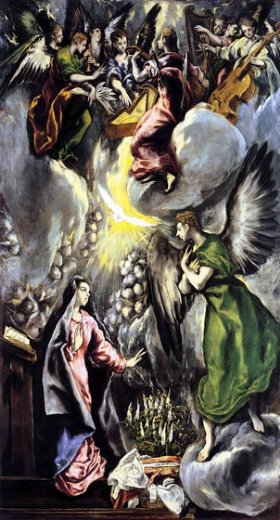 el greco the annunciation 4 painting