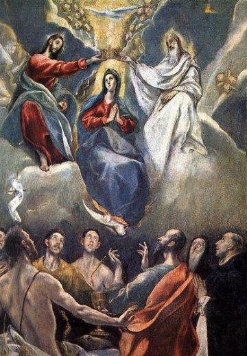 El Greco - Dominikos Theotokopulos - Page 2 El-greco-the-coronation-of-the-virgin-ii