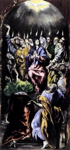 el greco the pentecost painting