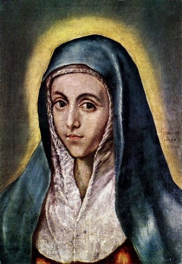 el greco the virgin mary ii paintings