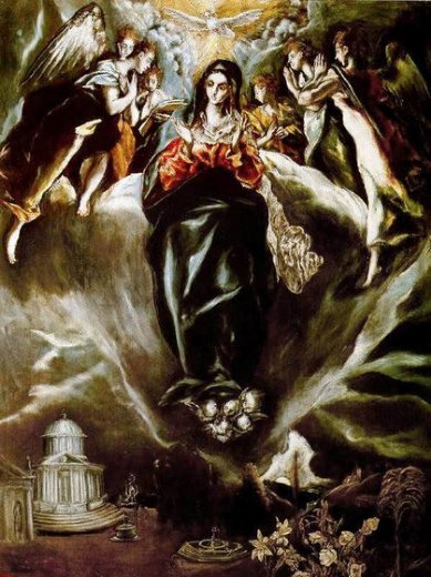 el greco the virgin of the immaculate conception ii painting