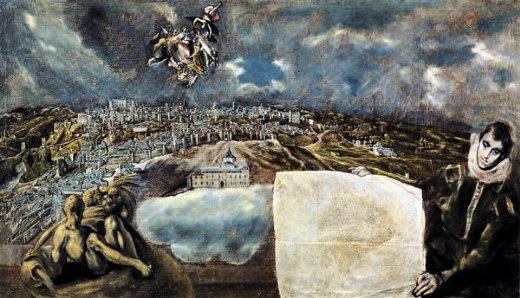 el greco view and plan of toledo painting