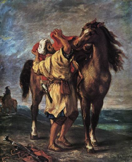 eugene delacroix marocan and his horse paintings