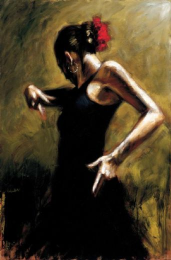 fabian perez dancer in black paintings