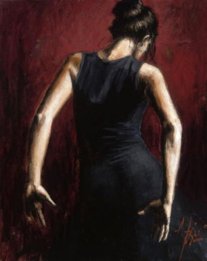 fabian perez el baile del flamenco en rojo ii paintings