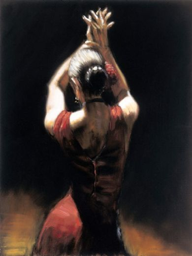 fabian perez flamenco dancer painting