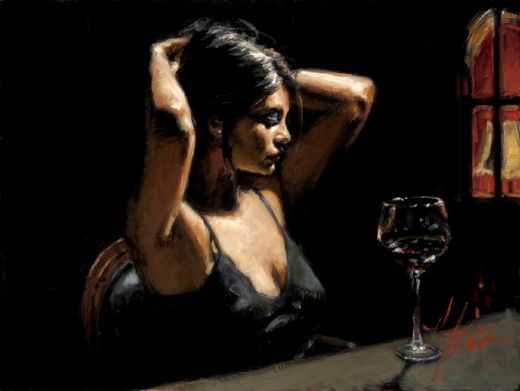fabian perez the dark room ii painting