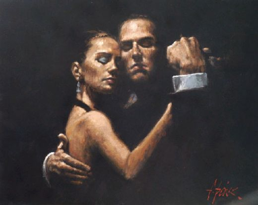 fabian perez the face of tango ii paintings
