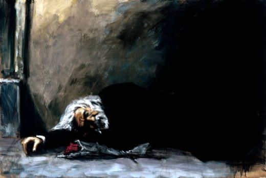 fabian perez waiting for the romance to come back ii painting