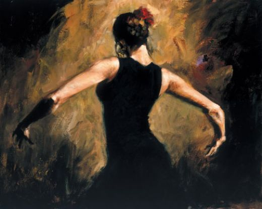 flamenco dancer flamenco iii paintings