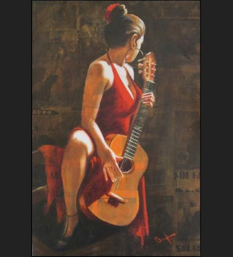 flamenco dancer sexy flamenca guitar flamenco dancer david silvah painting
