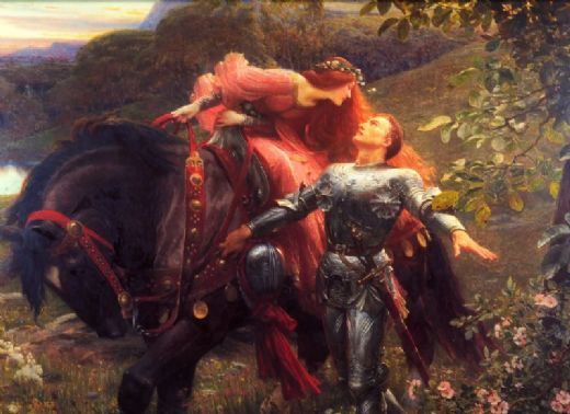 frank dicksee la belle dame sans merci paintings