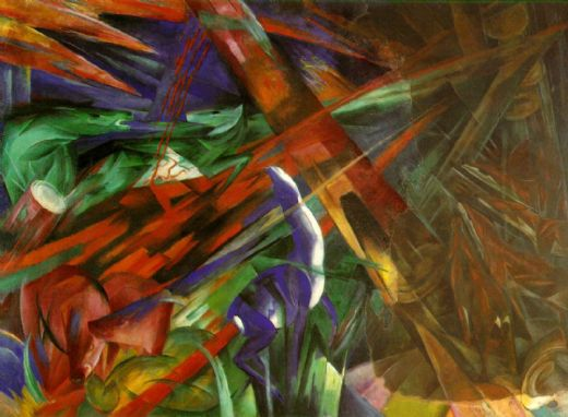 franz marc fate of the animals paintings