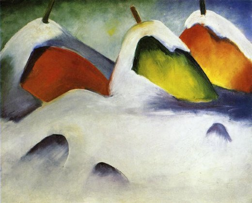 franz marc haystacks in the snow paintings