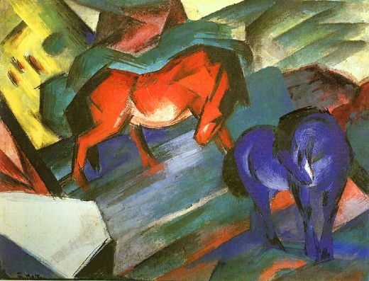 Buy Blue Horse Painting Franz Marc On Canvas