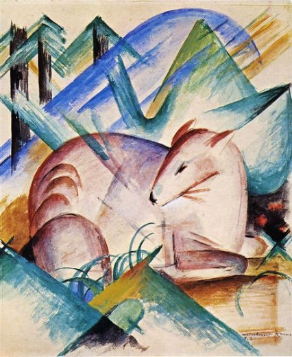 franz marc red deer paintings
