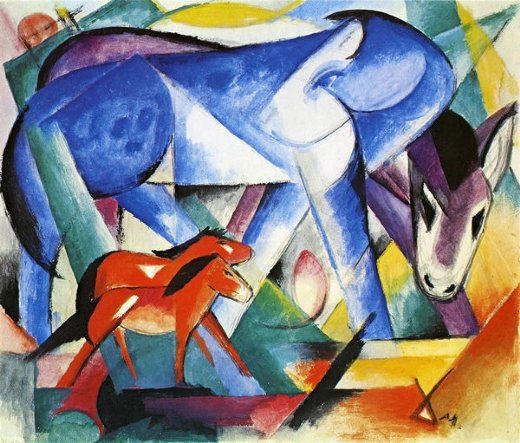 franz marc the first animals paintings