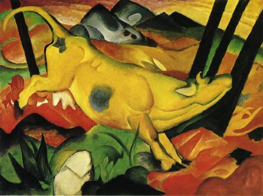 franz marc the yellow cow painting franz marc the yellow