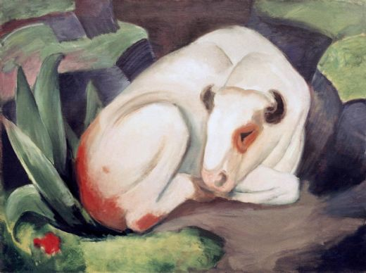 franz marc weisser stier paintings