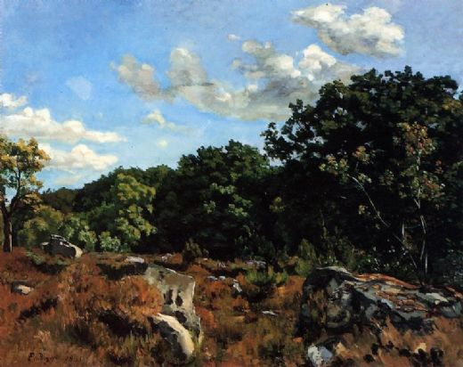 frederic bazille landscape at chailly paintings