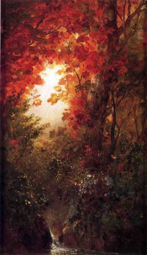 frederic edwin church autumn landscape vermont painting