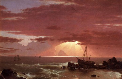 frederic edwin church the wreck painting