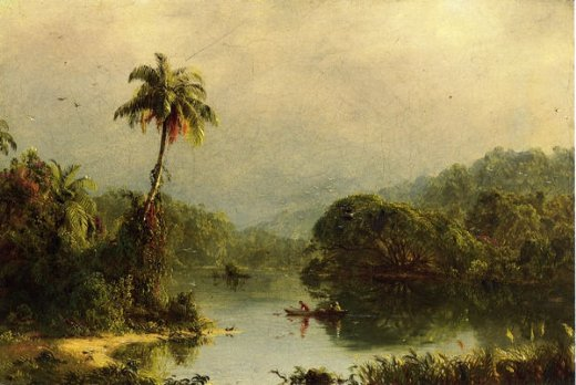 frederic edwin church tropical landscape ii painting