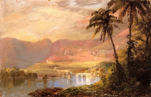 frederic edwin church tropical landscape iii painting
