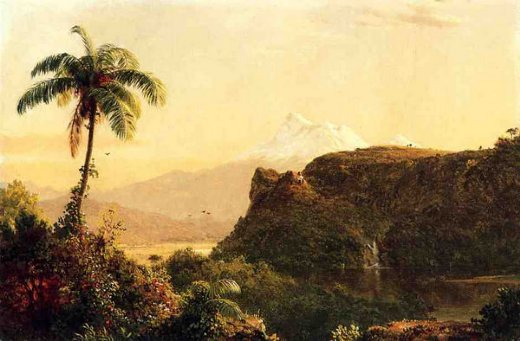 frederic edwin church tropical landscape oil painting