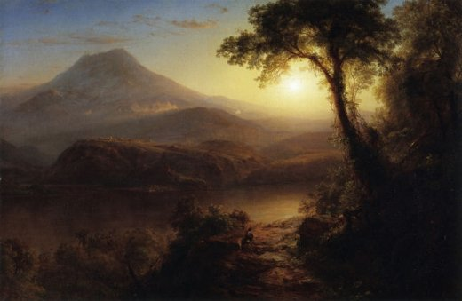 frederic edwin church tropical scenery painting