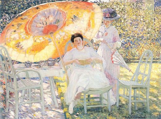 frederick carl frieseke the garden parasol paintings