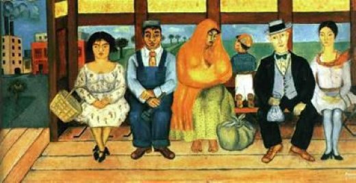 frida kahlo el autobus paintings
